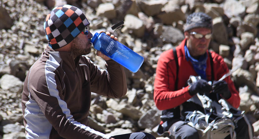 Hydration in Aconcagua