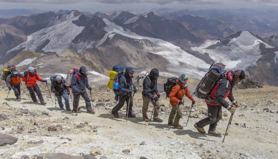High altitud trek at Aconcagua