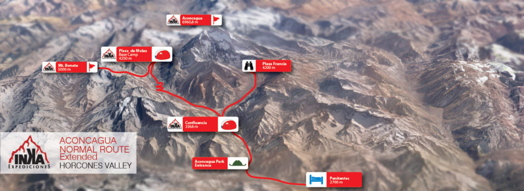 Aconcagua Normal Route extended