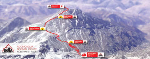 Aconcagua Normal Route extended 2