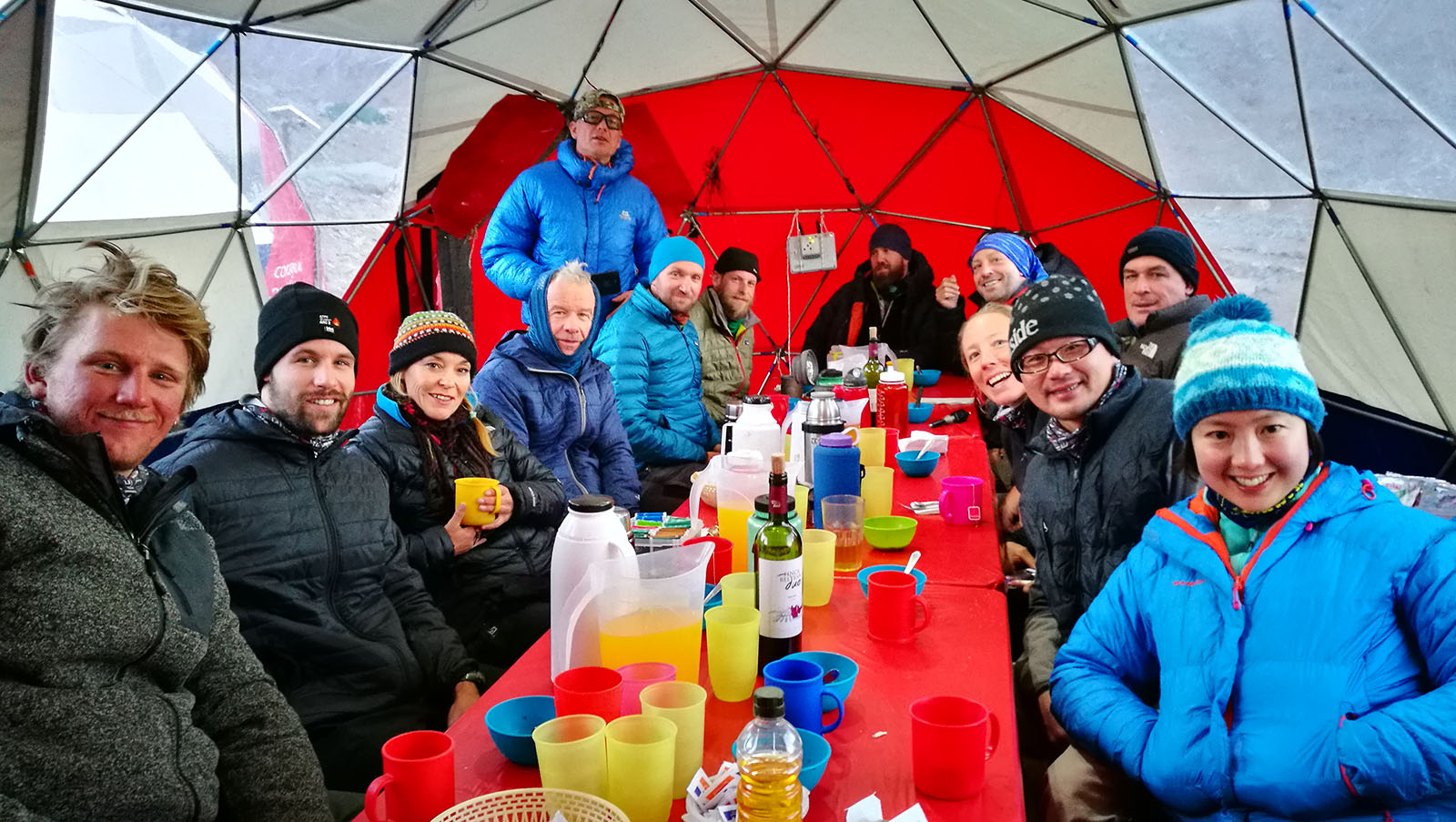 Dinning domes in Base Camps