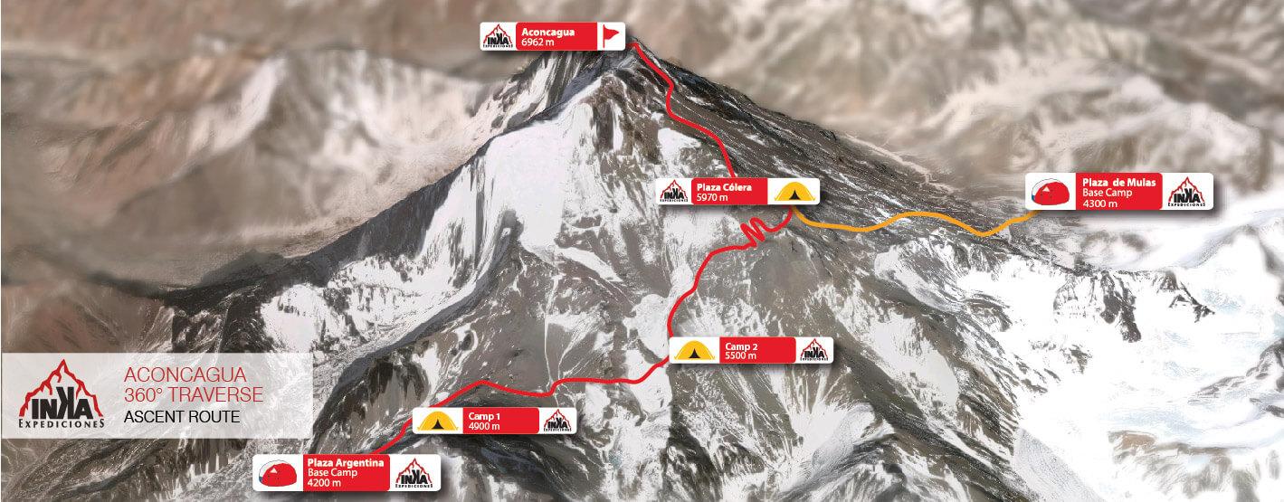 Aconcagua Map 360 Route