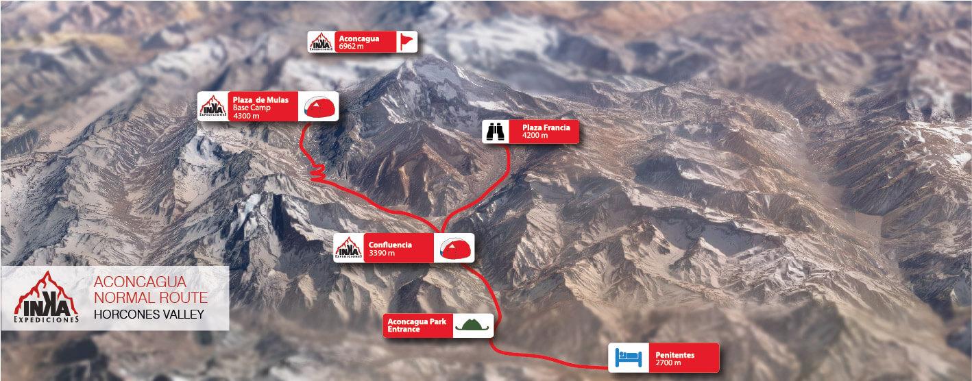 Aconcagua Map Normal Route