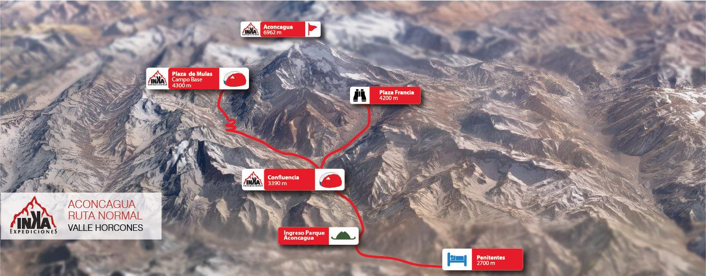 Mapa Aconcagua