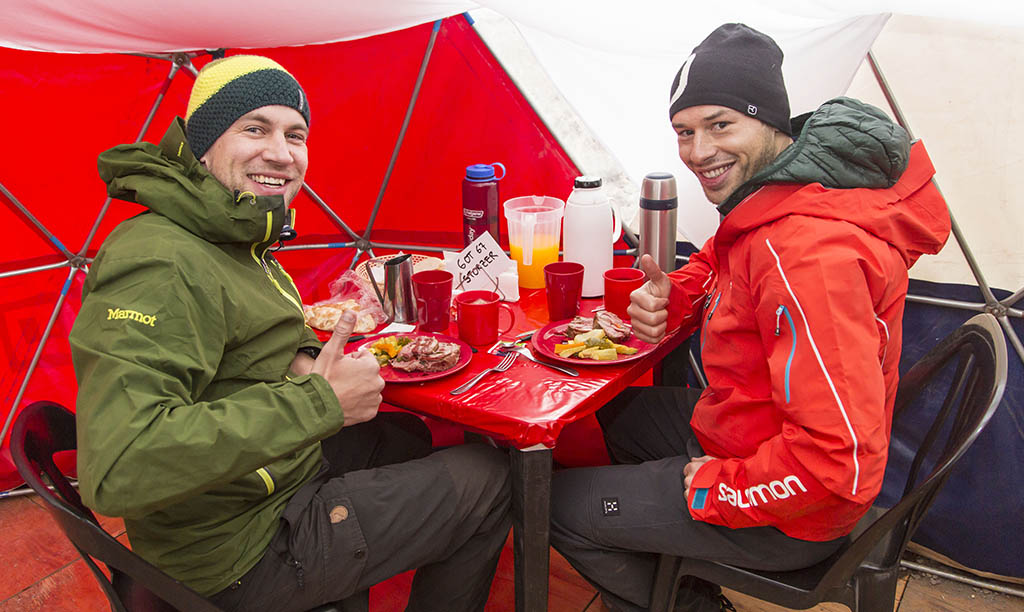 Meals at Base Camps Aconcagua