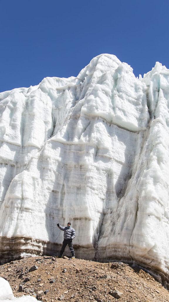 Glaciar en el Mercedario
